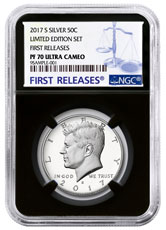 2017-S Silver Proof Kennedy Half Dollar From Limited Edition Silver Proof Set NGC PF70 UC FR Black Core Holder