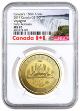 2017 Canada Celebrating Canada's 150th - Voyageur Special Edition 1 oz Gold $150 Coin NGC MS70 ER Exclusive Canada Label