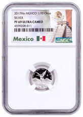 2017-Mo Mexico 1/20 oz Silver Libertad Proof Coin NGC PF69 UC Mexico Label