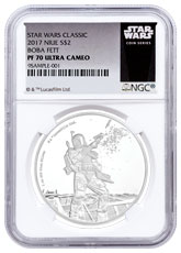 2017 Niue Star Wars Classic - Boba Fett 1 oz Silver Proof $2 Coin NGC PF70 Star Wars Label