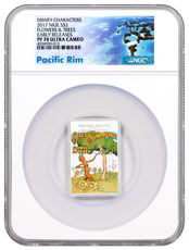 2017 Niue Disney Posters of the 1930s - Flowers and Trees Rectangle 1 oz Silver Colorized Proof $2 Coin NGC PF70 UC ER Exclusive Pacific Rim Label