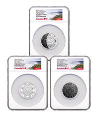 2017 Canada Phases of the Moon - 3-Coin Set 2 oz Silver Proof $30 Coin NGC PF70 UC ER Exclusive Canada Label