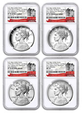 2017-D+P+S+W United States American Liberty 225th Anniversary 4-Medal Set NGC 70 ER Exclusive U.S. Mint 225th Anniversary Label