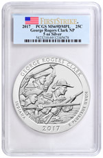2017 George Rogers Clark 5 oz. Silver America the Beautiful Coin PCGS MS69 DMPL FS
