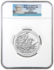 2017-P George Rogers Clark 5 oz. Silver America the Beautiful Specimen Coin NGC SP70 FR