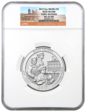 2017 Ellis Island 5 oz. Silver America the Beautiful Coin NGC MS69 DPL ER