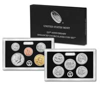 2017 U.S. 225th Anniversary Enhanced Uncirculated Coin Set GEM Specimen OGP