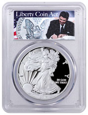 2017 Proof American Silver Eagle PCGS PR70 DCAM FS (Liberty Coin Act Label)