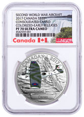 2017 Canada Aircraft of the Second World War - Consolidated Canso 1 oz Silver Colorized Proof $20 Coin NGC PF70 UC ER (Exclusive Canada Label)