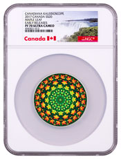 2017 Canada Canadiana Kaleidoscope - Maple Leaf 1 oz Silver Colorized Proof $20 Coin NGC PF70 UC ER (Exclusive Canada Label)