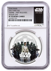 2017 Niue Star Wars: Rogue One - Empire 1 oz Silver Colorized Proof $2 NGC PF70 UC FR (Exclusive Star Wars Label)