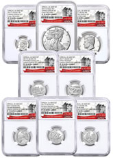 8-Coin Set - 2017-S U.S. Limited Edition Silver Proof Coin Set NGC PF70 UC ER Exclusive U.S. Mint 225th Anniversary Label