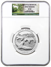 2017-P Effigy Mounds 5 oz. Silver America the Beautiful Specimen Coin NGC SP69