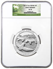 2017-P Effigy Mounds 5 oz. Silver America the Beautiful Specimen Coin NGC SP70