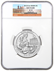 2017-P Ellis Island 5 oz. Silver America the Beautiful Specimen Coin NGC SP70