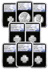 8-Coin Set - 2017-S U.S. Limited Edition Silver Proof Coins Set NGC PF69 ER Black Core Holder