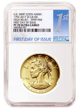 2017-W American Liberty High Relief Gold Proof $100 Coin NGC PF70 UC FDI