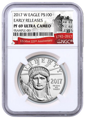 2017-W 1 oz Platinum American Eagle Proof $100 NGC PF69 UC ER Exclusive U.S. Mint 225th Anniversary Label