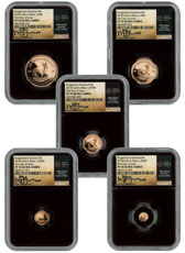2018 South Africa Gold Krugerrand - 5-Coin Gold Fractional Set Scarce and Unique Coin Division NGC PF70 UC FDI