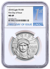 2018 1 oz Platinum American Eagle $100 NGC MS69 FDI