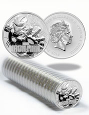 Roll of 20 - 2018 Tuvalu Iron Man 1 oz Silver Marvel Series $1 Coins GEM BU Original Mint Capsules