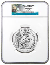2018 Pictured Rocks 5 oz. Silver America the Beautiful Specimen Coin NGC SP70 FR