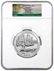 2018 Voyageurs 5 oz. Silver America the Beautiful Coin NGC MS69 DPL ER