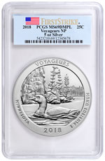 2018 Voyageurs 5 oz. Silver America the Beautiful Coin PCGS MS69 DMPL FS