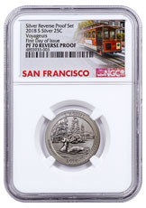 2018-S Silver Voyageurs National Park Reverse Proof America the Beautiful Quarter NGC PF70 FDI San Francisco Cable Car Label