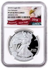 2018-S Proof American Silver Eagle NGC PF69 UC FR Exclusive American Eagle Label