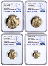 2018-W Proof Gold American Eagle 4-Coin Proof Set NGC PF69 ER