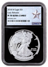2018-W Proof American Silver Eagle NGC PF70 UC ER Black Core Holder West Point Silver Star Label