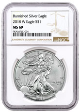 2018-W Burnished American Silver Eagle NGC MS69
