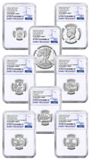 8-Coin Set - 2018-S U.S. Limited Edition Silver Proof Coins Set NGC PF69 UC ER