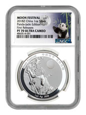 2018 China Moon Festival Silver Panda 1 oz Silver Proof Medal NGC PF70 FR