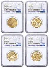 2019-S American Innovation 4-Coin Dollar Proof Set NGC GEM Proof ER Early Releases Label
