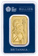 Royal Mint Individually Serial Numbered Britannia 1 oz Gold Bar BU In Tamper Resistant Holder