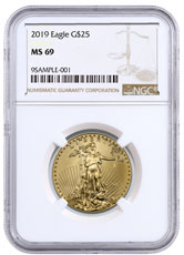 2019 1/2 oz Gold American Eagle $25 NGC MS69