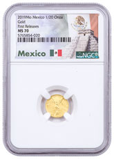 2019-Mo Mexico 1/20 oz Gold Libertad 0.05 Onza Coin NGC MS70 FR Exclusive Mexico Label
