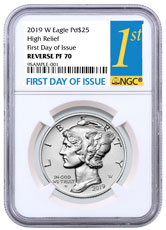 2019-W 1 oz High Relief Palladium Eagle Reverse Proof $25 Coin NGC PF70 FDI