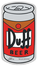 2019 Tuvalu The Simpsons - Duff Beer 1 oz Silver Proof $1 Coin GEM Proof OGP