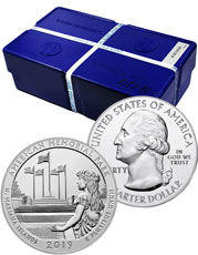 Monster Box of 100 - 2019 American Memorial Park 5 oz. Silver America the Beautiful Coins GEM BU