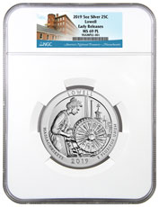2019 Lowell 5 oz. Silver America the Beautiful Coin NGC MS69 PL ER America's National Treasures Label