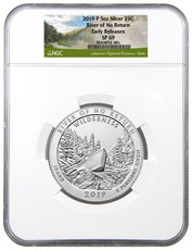 2019-P Frank Church River of No Return (Idaho) 5 oz. Silver America the Beautiful Specimen Coin NGC SP69 ER