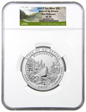 2019-P Frank Church River of No Return (Idaho) 5 oz. Silver America the Beautiful Specimen Coin NGC SP70 FR
