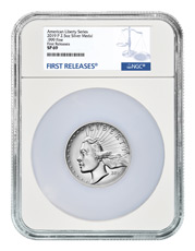2019-P American Liberty High Relief Medal 2.50 oz Silver Medal NGC SP69 FR