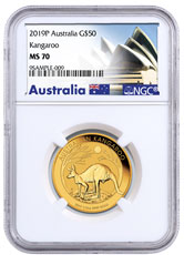 2019-P Australia 1/2 oz Gold Kangaroo $50 Coin NGC MS70 Exclusive Australia Label