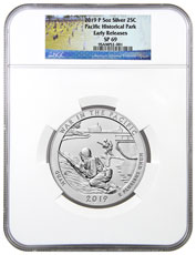 2019-P 25C War in the Pacific 5 oz. Silver America the Beautiful Specimen Coin NGC SP69 ER