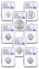 8-Coin Set - 2019-S U.S. Limited Edition Silver Proof Coins Set NGC PF69 UC ER