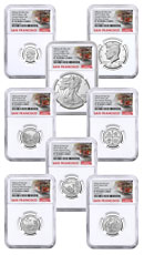 8-Coin Set - 2019-S U.S. Limited Edition Silver Proof Coins Set Limited Edition NGC PF70 UC FDI San Francisco Cable Car Label